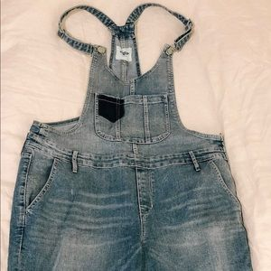 Old Navy Blue Jean Overalls Size 14
